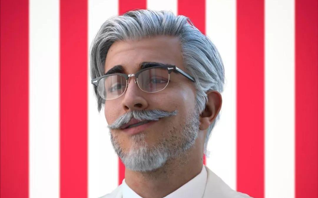 KFC 在社交媒体推出全新「上校」形象