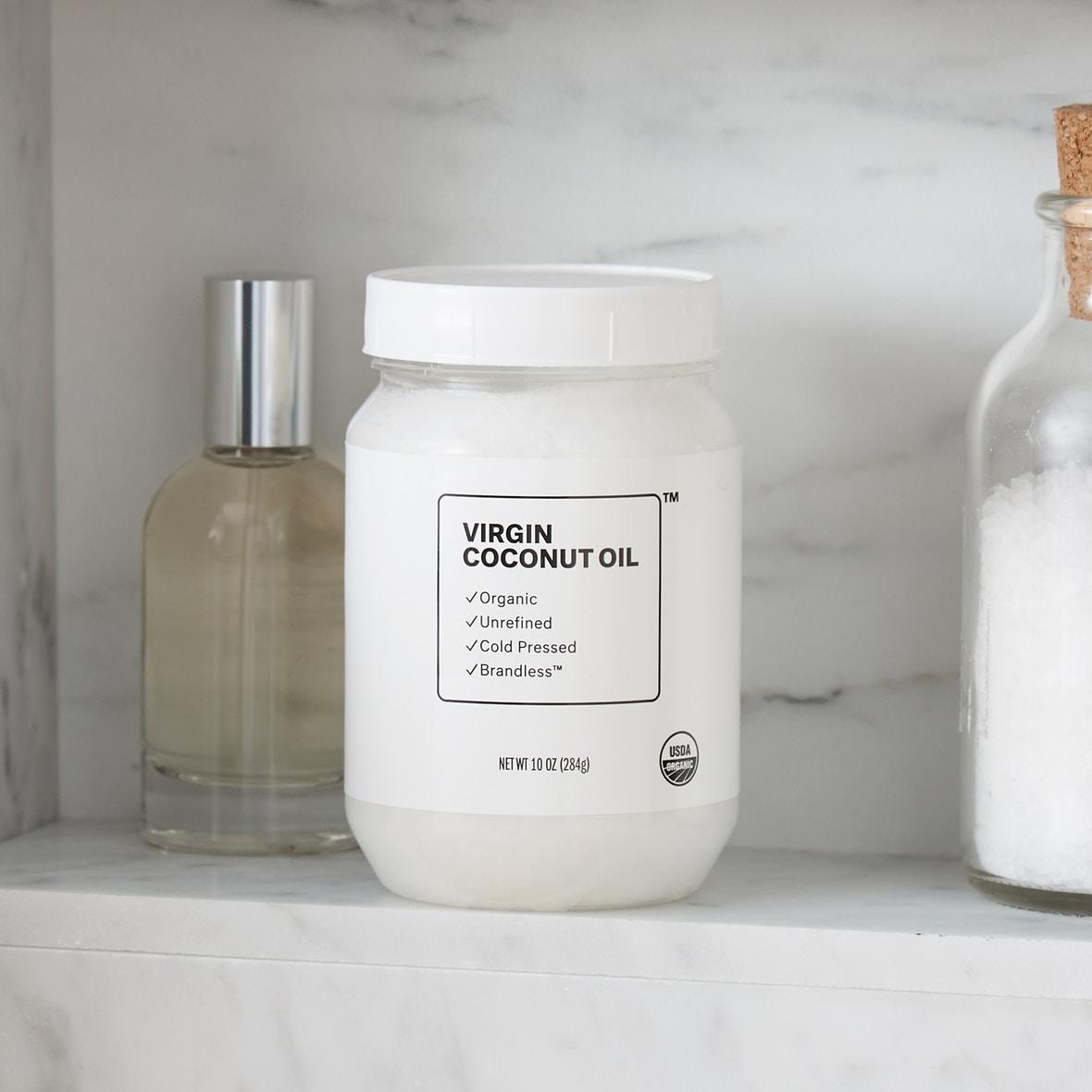 椰子油包装-brandless-极简主义