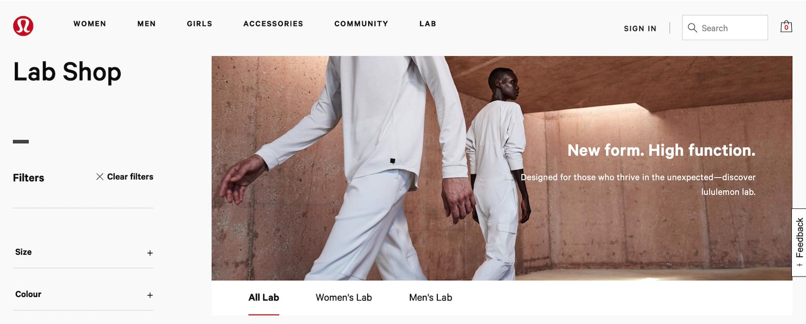 lululemon lab