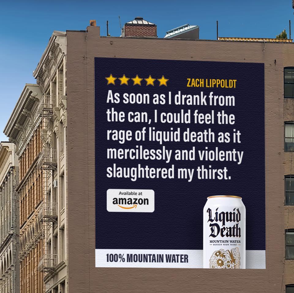 Liquid death 的户外广告